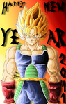 Bardock SSJ - New Year 2011 by JJJawor