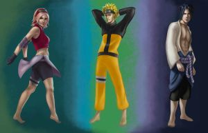 The Shippuden Three by JuneJenssen
