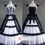 Lace Ruffled Bandage Gothic Lolita Dress by wendywei2012