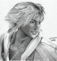 Tidus pencil drawing by matkool