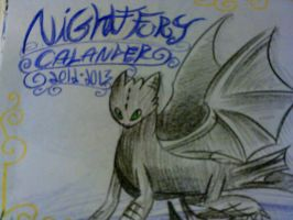 night fury calender...cover by SQUIRRELADOR