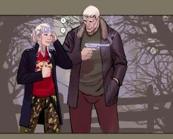 death vigil 4- Chiyoko and Vlado by nebezial