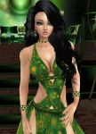 Green Goddess Gown by zodiac699