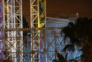 Rollercoaster at Night by MogieG123