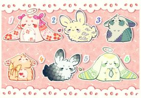 .: Fluffy Bunnies Adopts (Closed!) :. by Biiiscoito