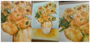 Still Life With Twelve Sunflowers by NynjaKat