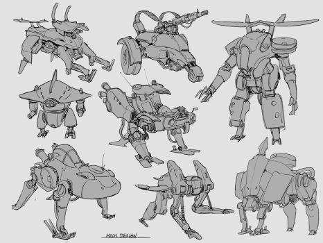 Mech design by samuraise