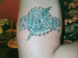 W.A.S.P. Logo Tattoo by WASP-Deviations