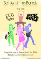 Battle of the Bands Poster by t3hOutlaw