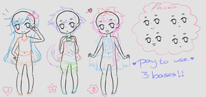P2U Bases: 3 diffrent poses by KimmyPeaches