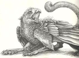 Golden Eagle Gryphon by Sanguisa