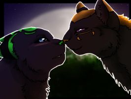 day 3: kisses by Ymia-the-cheetah
