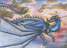 Saphira and Eragon by PuppyBleew
