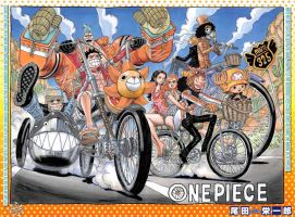 One Piece Straw Hat Bicycles Poster by weissdrum