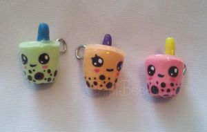 Bubble Tea Charms by ChibiBeeBee