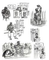 Killer Croc Sketches part 3 by rchlisawesome