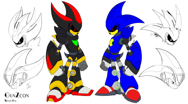 Metal Shadow and Metal Sonic Redesigns by GunZcon
