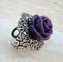 Purple Rose Ring 1 by Aranwen
