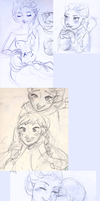 Frozen Doodles by maybelletea