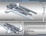 Great Space Race - AR-25 Avaire Fighter by TurinuZ