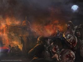 Zombie attack by Montjart