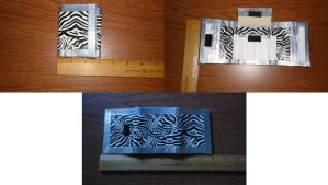 Silver and Zebra Trifold Wallet by somechick73