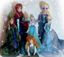 Frozen OOAK dolls by lulemee