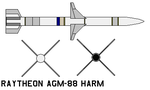 Raytheon AGM-88 HARM by bagera3005