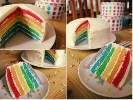 Rainbow Cake by EpicZoe