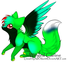 Winged Canine for ryasha14 by DiloTheSeaDragon120