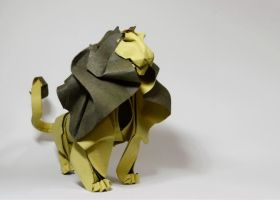 Origami Lion 2014 by HTQuyet