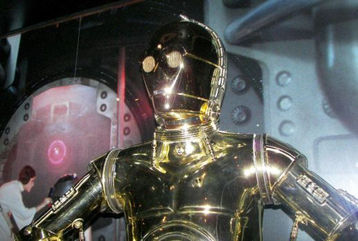 Shiny C3P0 Star Wars Exhibit by Sabretooth