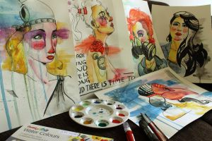 Watercolor women collection by DiegoSilvaPires