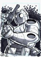 Atomic Robo Sketchcard 2 by stratosmacca