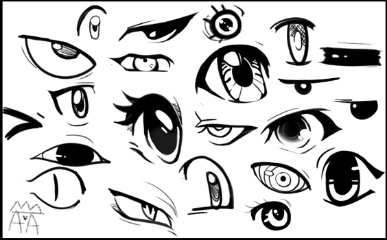 ~:Some Random Eyes I Doodled:~ by The-Star-Hunter