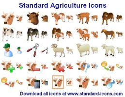Standard Agriculture Icons by yourmailkept