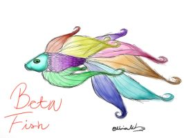 Beta Fish by FluffehPickleLivi
