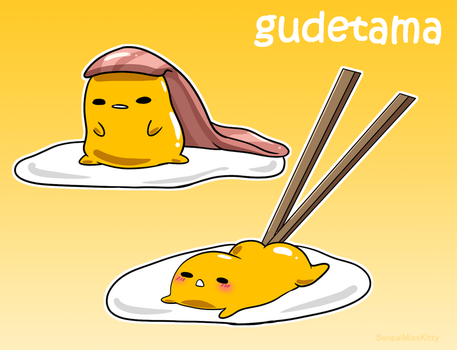 Gudetama on kawaii fruit