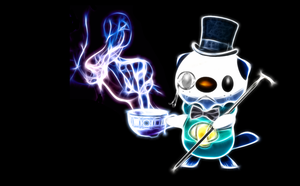 Gentlemanly Oshawott Wallpaper by PorkyMeansBusiness