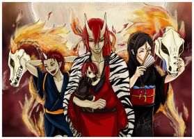 OC: the oni family by MasamuneRevolution