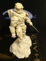 Halo 4 Master Chief Statue by xar8