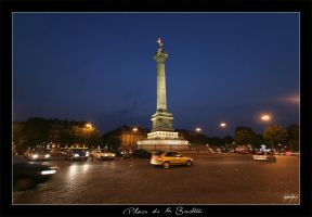 Place de la Bastille by saddogeyes