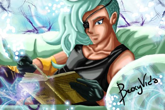 [REQUEST] YGO OC - Maes Reading Colored by BeckyVida