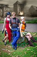 Leon S. Kennedy, Ashley Graham and Ada Wong by erickzeros