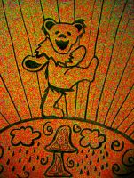 Grateful Dead Bear by treehugger-hmj