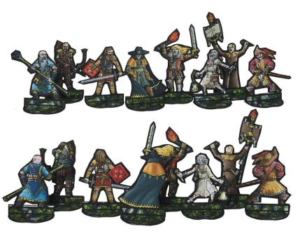 witch hunters paper mini by greendragongryphon