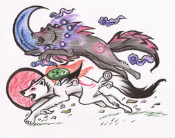 Another Okami by Phoeberia