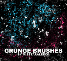 Grunge Brushes by misstaraleexo