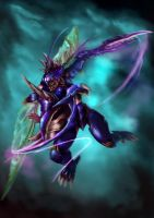 LoL October Collab: Kha'Zix by DragonicHeaven