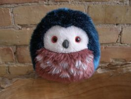 New Size: Xsmall owl (blue/red) by demiveemon
